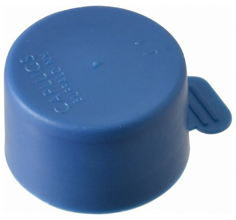 1 NPT ID Tear-Tab Cap, Polyethylene, Blue 100 Pack