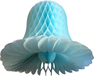 product image for 3-Pack 15 Inch Honeycomb Tissue Paper Wedding Bell Party Decoration (Light Blue)