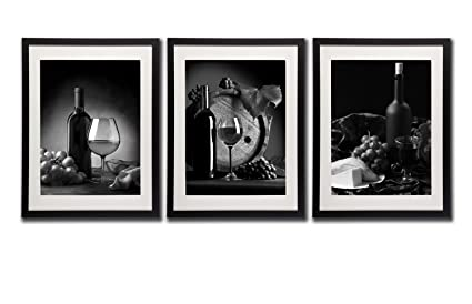 Amazoncom Red Wine Pictures Wall Art Decor Bottle Glass Grapes