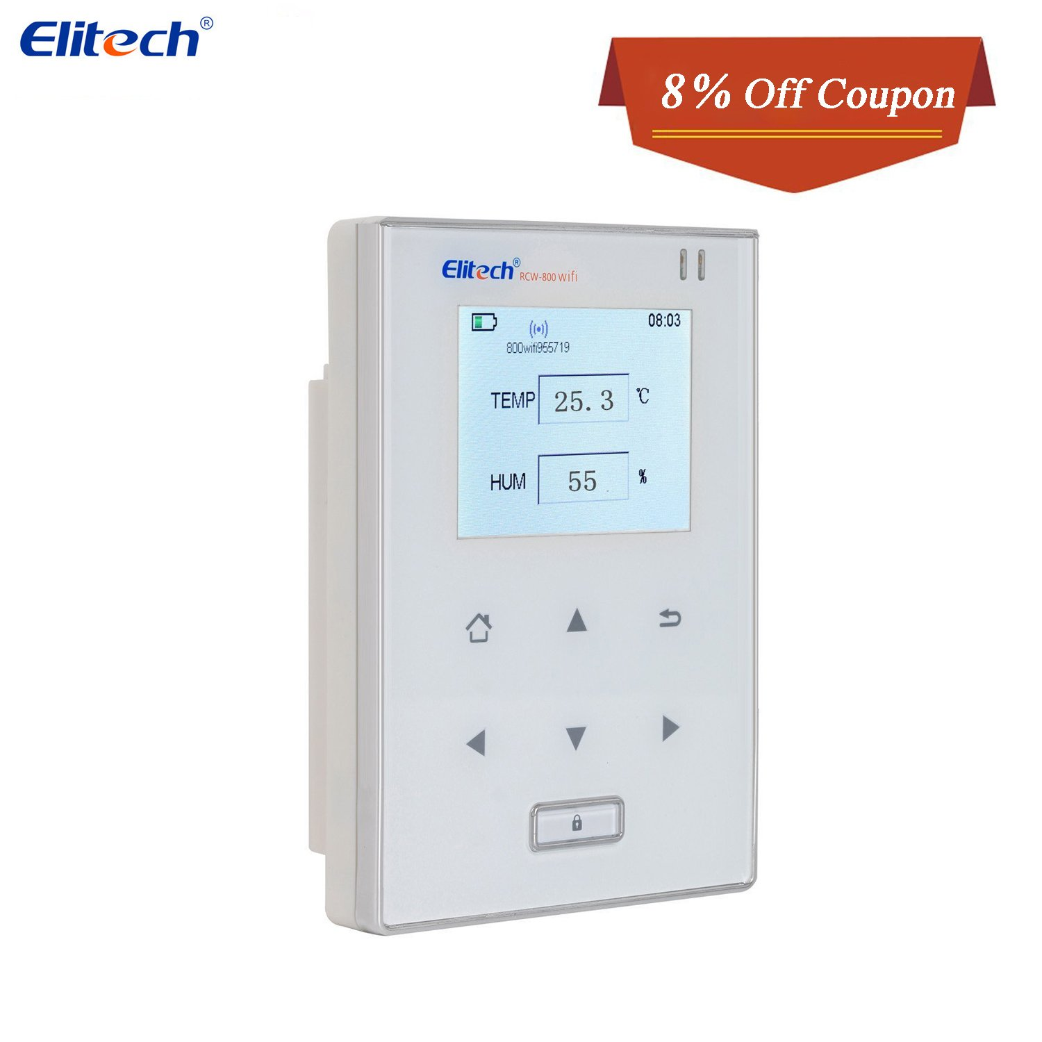 Temperature and Humidity Data Logger Wifi Temp Monitor Recorder Wireless Refrigerator Thermometer Elitech RCW800 WIFI