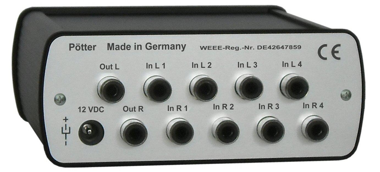 4 Kanal Mixer mit automatischer Lautstärkeregelung: Amazon.de ...