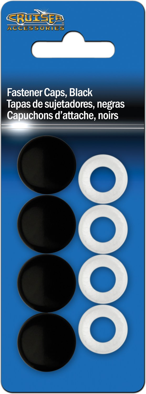 Amazon.com: Cruiser Accessories 82650 License Plate Frame Fastener Caps, Black: Automotive