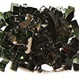 My Fireplace Glass - 10 Pound Terrazzo Chip Fireplace Glass - Size 2, 1/4 - 3/8 Inch, Black Reflective