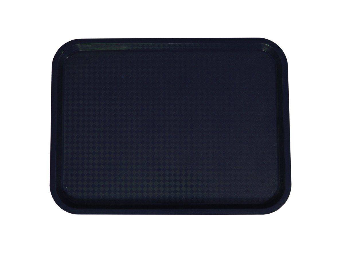 Update International FFT-1418BK Fast Food Tray Black, 14 x 18 in, Polypropylene (Recyclable Plastic)