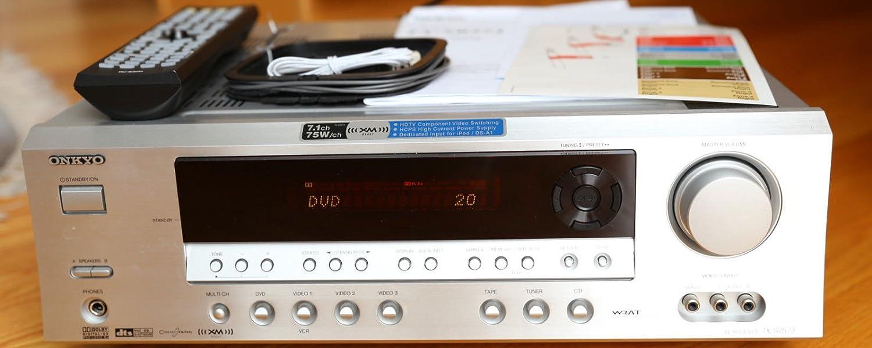 ONKYO TX-SR573 Home Theater Receiver (Silver)