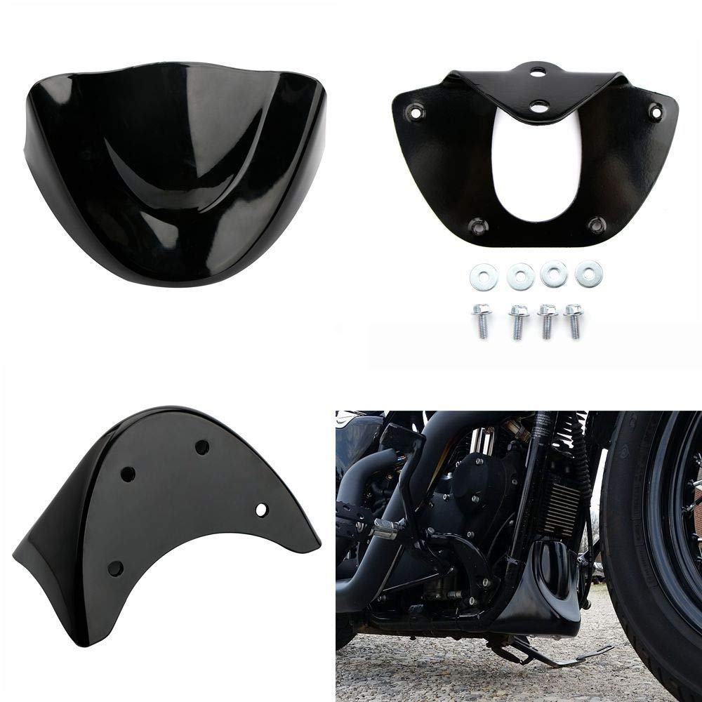 Gloss Black Motorcycle Front Chin Spoiler Air Dam Fairing Windshield Mudguard For Harley Dyna FXDL FXD FXDB 2006 2007 2008 2009 2010 2011 2012 2013 2014 2015 2016 2017