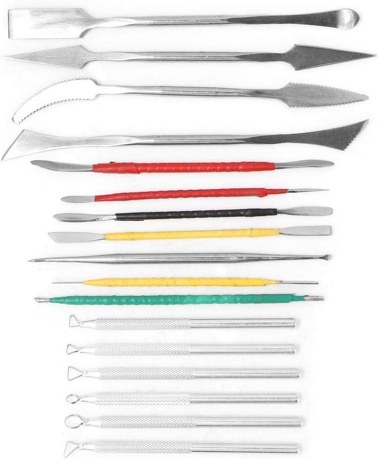 kit de sculpture en argile Outils en argile cire /à spatule en acier inoxydable /à double face
