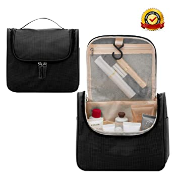 7ec8fa5c5c08 Amazon.com   Travel Hanging Toiletry Bag Large Multifunction Portable Makeup  Pouch Waterproof Bag Organizer for Makeup and Toiletries for Men and Women  ...