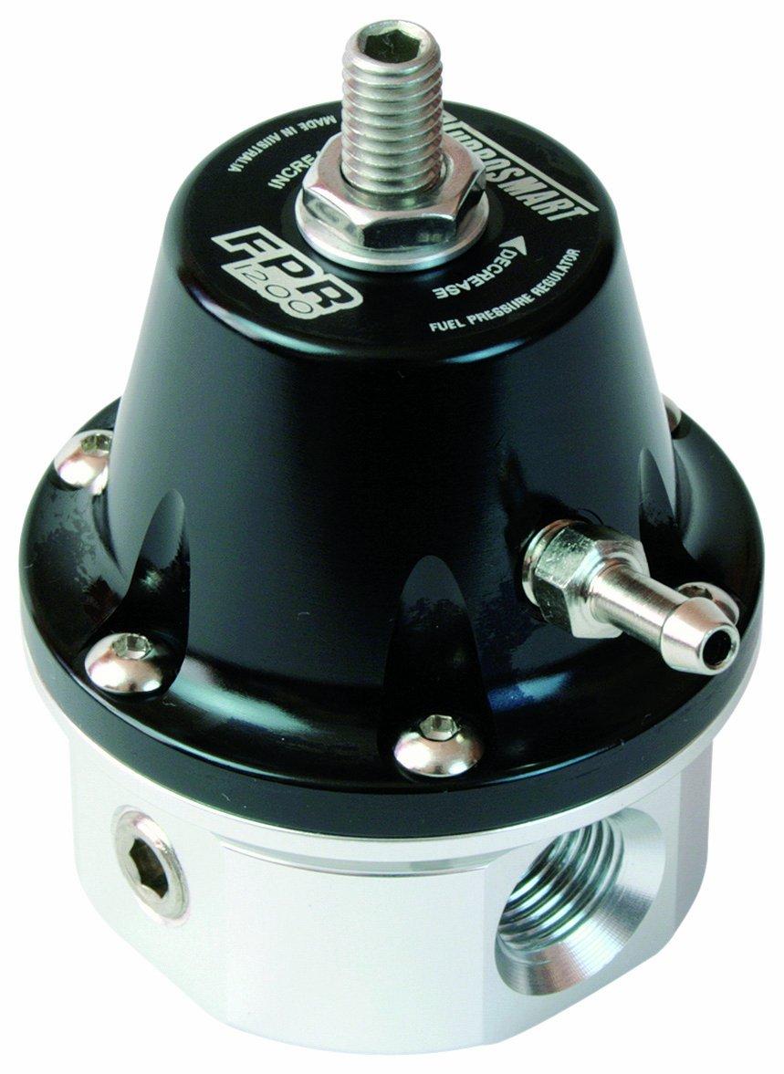 6 AN Fuel Pressure Regulator Turbosmart TS-0401-1004 FPR 1200 Black