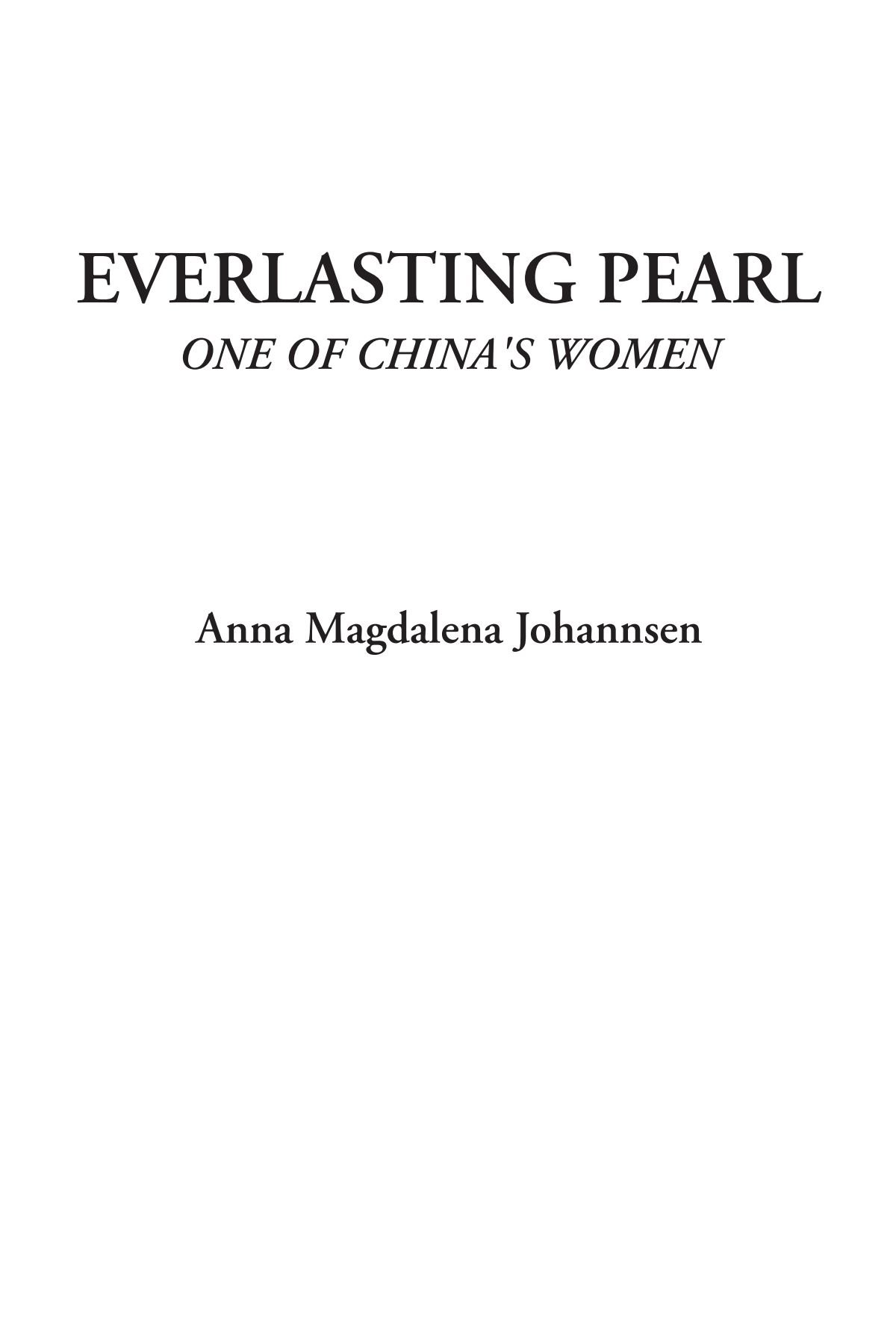 Everlasting Pearl (One of China's Women) pdf