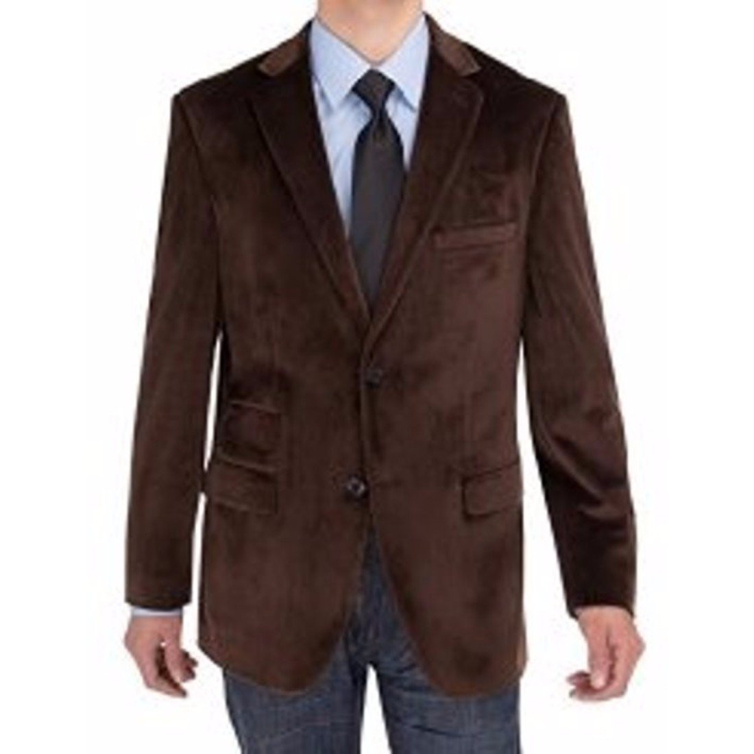 Srajan Mens Slim Fit Brown Flip Pocket Casual Blazer Jackets Sports Coats Wedding Party Ceremony Business Wear