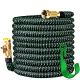2019 Upgraded 150 ft Expandable Garden Hose,150 Feet Leakproof Lightweight Garden Water Hose with Solid Brass Fittings,Extra Strength 3750D Durable Gardening Flexible Hose,Expanding Garden Hoses