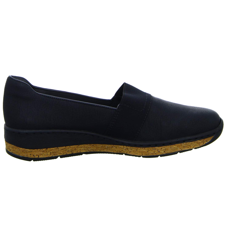 so billig gut aussehend ungeschlagen x Amazon.com   Rieker Women's Black Low Wedge Slip On Shoe   Shoes