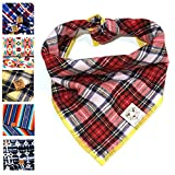 Bark.Bark.Goose.. Small Red Tartan Dog Bandana in Traditional Scottish Plaid
