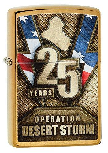 Zippo Operation Desert Storm Brushed Brass Pocket Lighter by Zippo