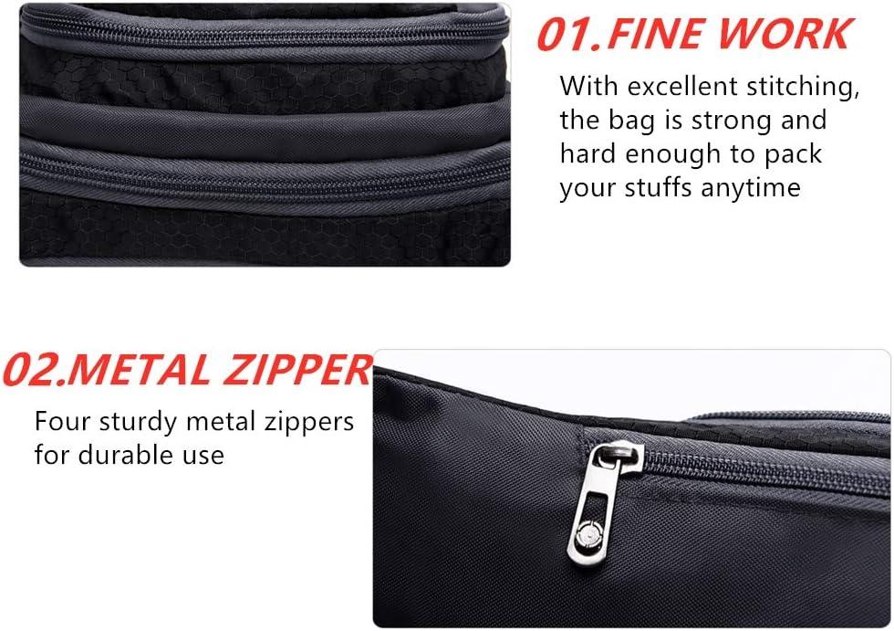 Lightweight Travel Pocket Hip Bum Bag Great for Hiking Dark Blue ALWAYSYOU Waist Fanny Pack Bag for Men /& Women Walking Biking Running