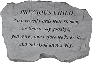 Kay Berry- Inc. 98220 Precious Child-No Farewell Words Were Spoken - Memorial - 16 Inches x 10.5 Inches x 1.5 Inches