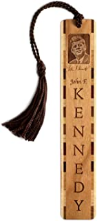 product image for Personalized President John F. Kennedy Photo with Signature - Engraved Wooden Bookmark with Tassel