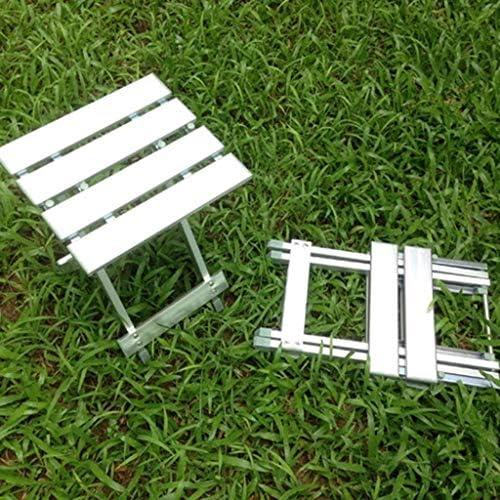 Zfggd Pouf Repose-Pieds Alliage Tabouret Pliant Tabouret Portable Banc Pliant Assis Tabouret De Train Chaise Pliante (Size : 45cm)