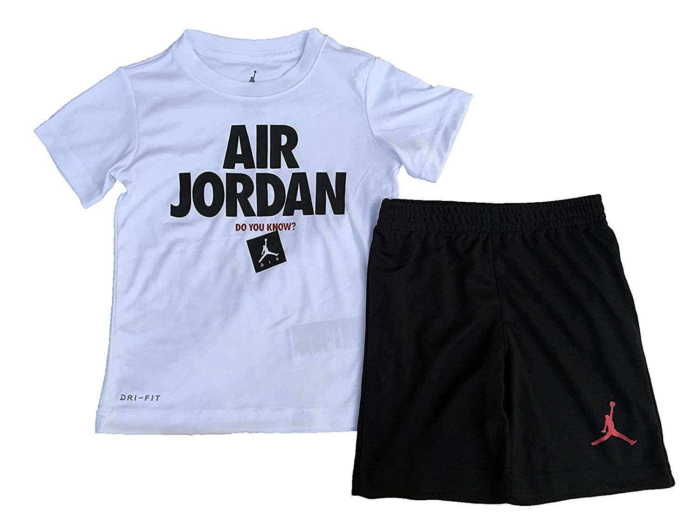 815f97e06c89 Amazon.com  Air Jordan Jumpman 2 Piece Boys Outfit Set  Sports   Outdoors
