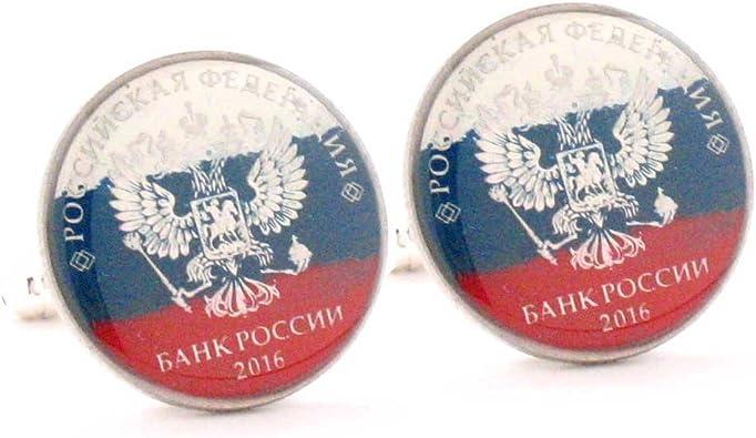 Russian Flag Flag of Russia Cufflinks Cuff Links
