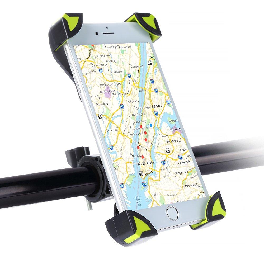 Soporte Móvil Bicicleta Montaña, SKYEE Ultra Estable 4 Esquinas Cerradas Silicona Antideslizante Rotación de 360