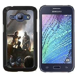 KLONGSHOP // Cubierta de piel con cierre a presión Shell trasero duro de goma Protección Caso - Peter Dinklage - Samsung Galaxy J1 J100 //