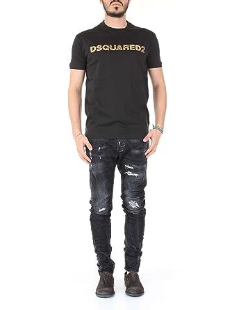DSquared Long Cool-Fit Cotton-Jersey T-Shirt Black XXL  Amazon.co.uk ... 35414f73f5d1