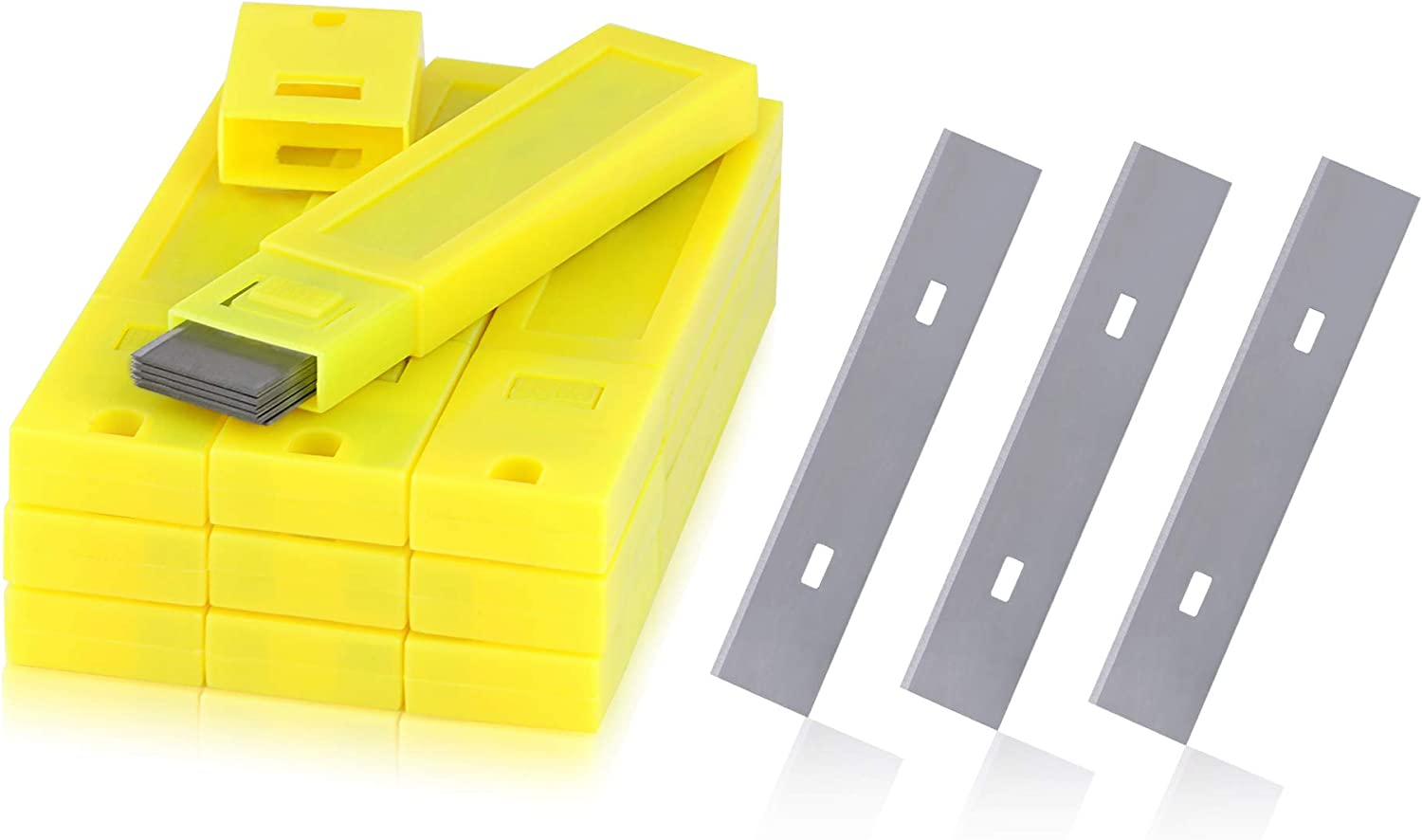 """50 Blades Total 4/"""" in Replacement Blades for Wall /& Floor Scrapers 5 Packages"""