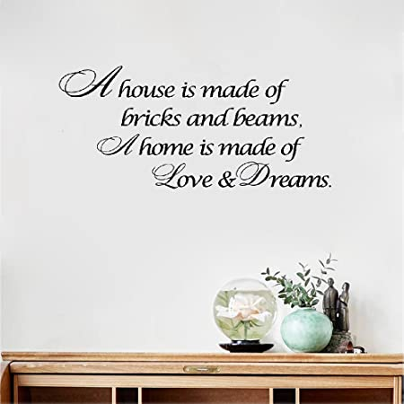 Vinyl Wall Art Inspirational Quotes And Saying Home Decor Decal Sticker House Is Love Dreams