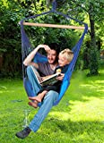 Decor Hut Outdoor Patio Tree Swing Hammock Two Cushions Rope for Easy Hanging Patio or Lawn Indoors to! Great for Autism and Relaxing Kids or Adults