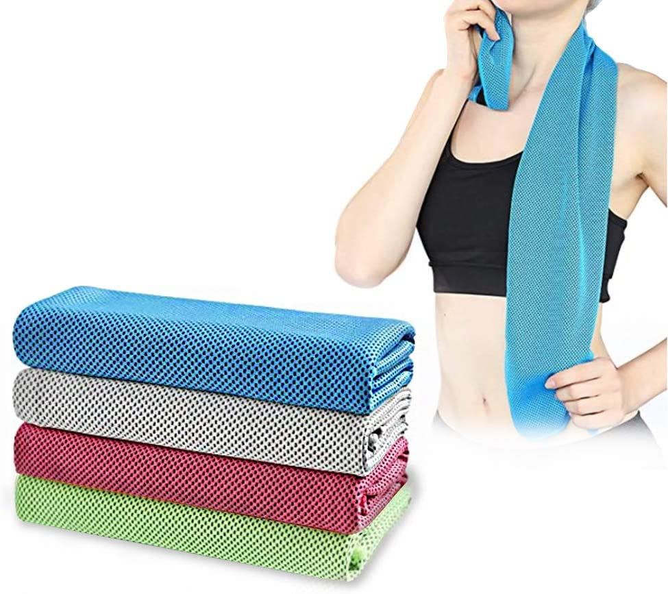 100x30cm Antideslizante Toallas de Yoga Calientes Ideal para Hot Yoga y Pilates EXCO Toalla de Yoga Cool Mate Super Suave Absorbente del Sudor