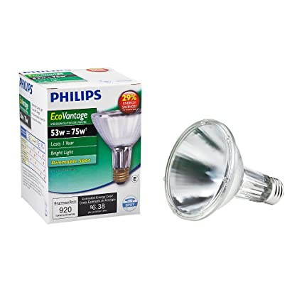 Philips 419564 Halogen PAR30L 75 Watt Equivalent 10 Degree Spot Light Bulb - Incandescent Bulbs - Amazon.com