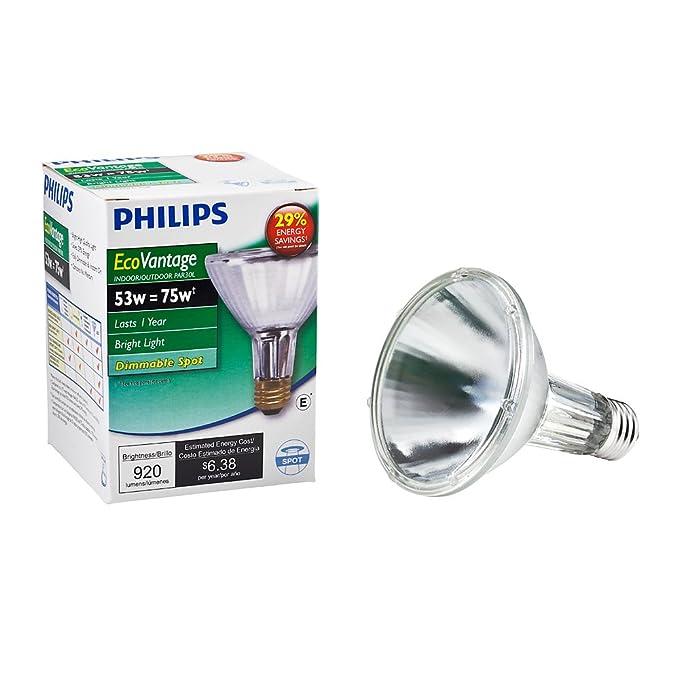 Philips 419564 Halogen PAR30L 75 Watt Equivalent 10 Degree Spot Light Bulb - Incandescent Bulbs - Amazon.com