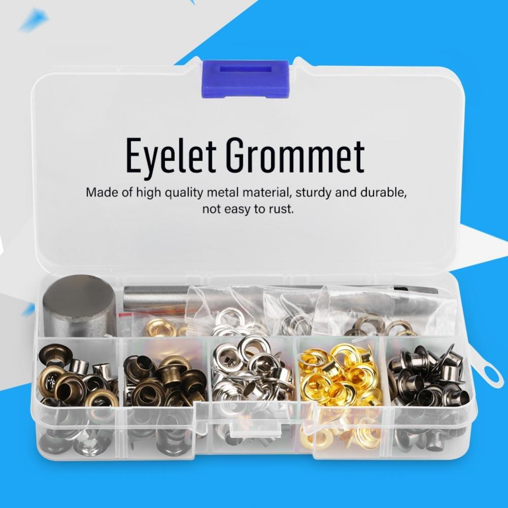 5mm x 220pcs Metal Eyelet Grommet Set Shoes Belt Leather Hole Craft Clothes Accessories