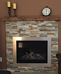 Amazon.com: Reclaimed Barnwood Beam Fireplace Mantel (Wood