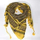 Big Size Scarf Military Shemagh Tactical Desert, 100% Cotton Keffiyeh, Scarf Wrap 45