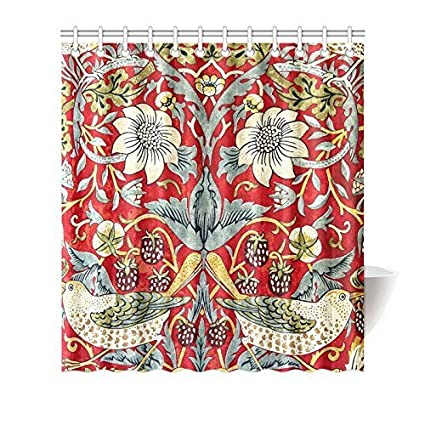 William Morris Shower Curtain 100 Polyester Fabric Waterproof 66 X 72 Amazoncouk Kitchen Home