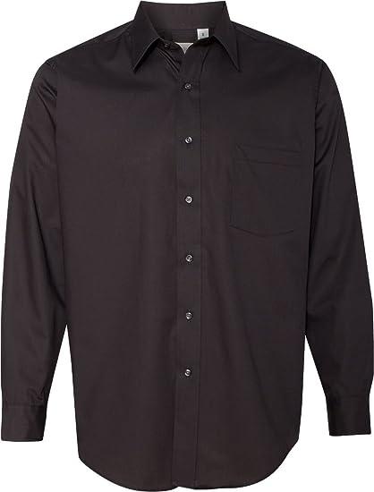 9ad963e3 Van Heusen V0214 Mens Long Sleeve Cotton Rich Broadcloth