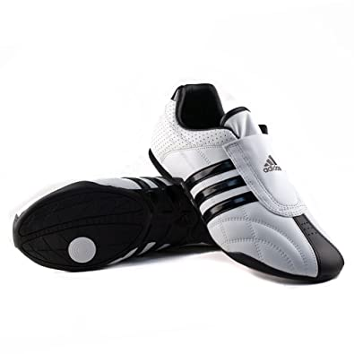 reputable site 89ef5 c0ff7 adidas ADI-LUX Martial Arts Taekwondo Kick Training Shoes WHITE  Black  Stripe Limited Edition