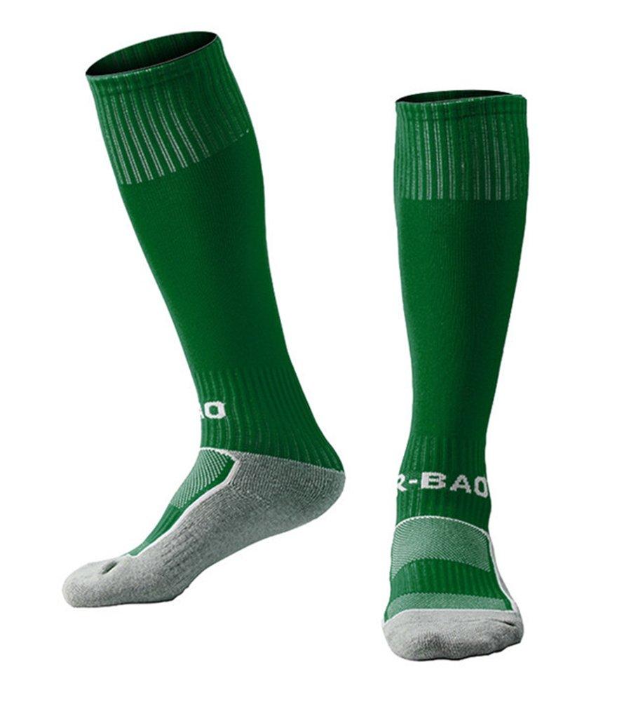 1 / 5 Pack Kids Football Socks Knee High Tube Socks Towel Bottom Pressure Sports Soccer Socks ( 7-13 Years Little Kid / Big Kid ) R-BAO