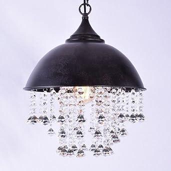 BAYCHEER Lampe Industrie Vintage Kristall Deckenleuchte ...
