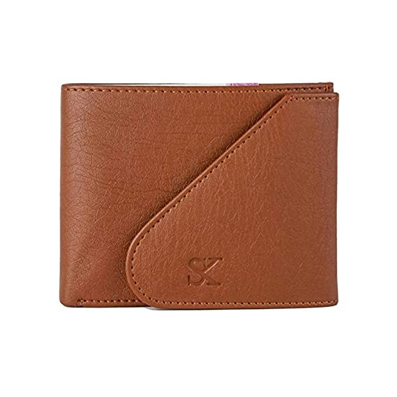 STYLER KING Men Tan Artificial Leather Wallet  6 Card Slots  Wallets