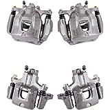 2 Hardware Brake Kit Ceramic Brake Pads Callahan CCK04102 FRONT Premium Loaded Original Caliper Pair