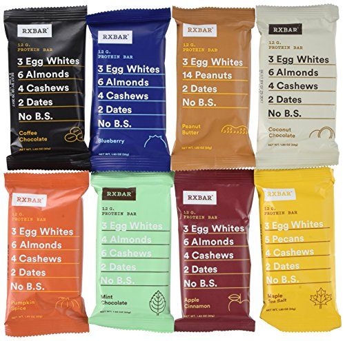 RXBAR Real Food Protein Bars Variety Pack, 9 Flavors w/NEW ...