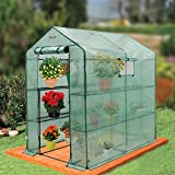Ogrow Large Heavy Duty WALK-IN 2 Tier 8 Shelf Portable Lawn and Garden Greenhouse For Sale