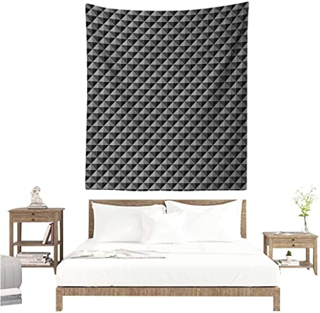 Marilds Dark Grey Diy Tapestry Abstract Monochromatic Pattern With Triangles Checkered Design 3d Effect Modern Living Room Background Decorative Painting 60w X 80l Inch Grey Black Amazon Ca Home Kitchen