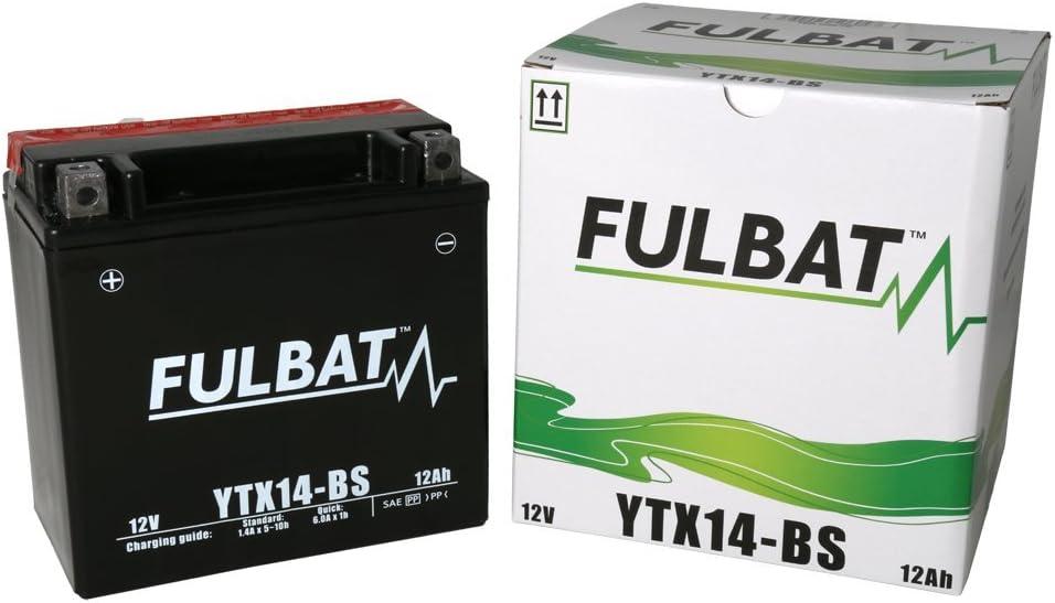 Batería FULBAT AGM YTX14-BS 12V 12Ah 200A Largo: 150 x Ancho: 87 x Alto 145 (mm)