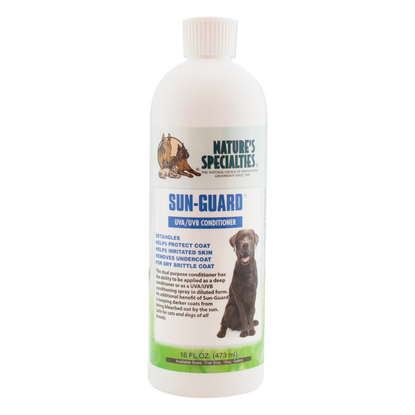 Nature's Specialties Sun Guard Leave in Pet Conditioner with UVA/UVB, 16-Ounce
