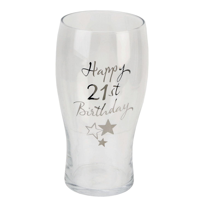 Juliana Happy 21st Birthday Pint Glass in Gift Box G31921 by Juliana